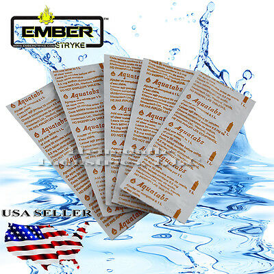 Aquatabs Germicidal Water Purification Tablets -10 Tabs Emergency Water 33 strip