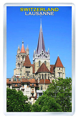 Lausanne Switzerland Fridge Magnet Souvenir Iman Nevera