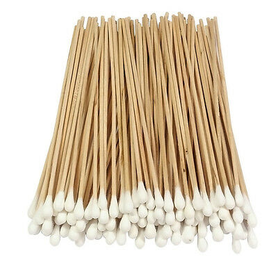 """Cotton Swabs Swab Applicator Q-tip EXTRA LONG Wood Handle STURDY! 100 Pieces 6"""""""