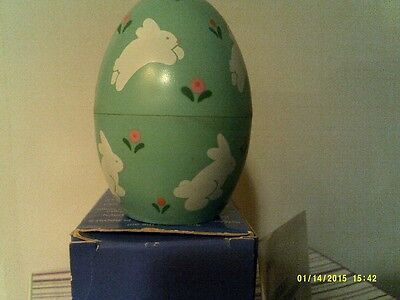 VTG  Avon COUNTRY EGG FRAGRANCED TEALIGHT CANDLE-BUNNY-NEW IN BOX-FREE SHIPPING