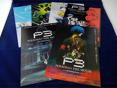 Promo Mini Poster PERSONA3 THE MOVIE #1 - #3 Set of 6 / Flyer Chirashi Aniplex