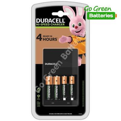 Duracell 45min CEF14 Fast Charger +2 AA 1300+2 AAA 750mAh Rechargeable Batteries