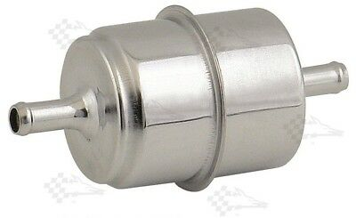 "Chrome Canister Fuel Filter - 5/16"" Inlet / Outlet"