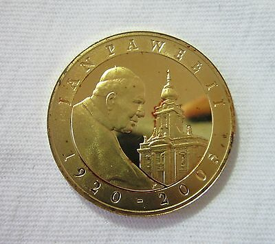 POLAND. SILVER 10 ZLOTYCH, 2005. GOLD PLATED OBVERSE.