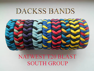 Cricket NatWest T20 South Group Teams Hand Made 550 Paracord WristBand Bracelet
