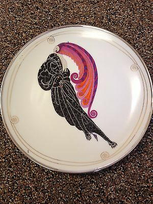 House of Erte Franklin Mint Limited Edition Beauty and the Beast Plate