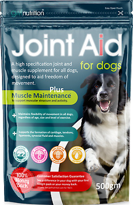 GWF Joint Aid Dogs 500g Supplement Arthritis Healthly Joints + Glucosamine