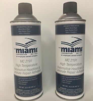 QTY 2 Headliner Repair Hi Temp Trim Spray Adhesive 15oz Can Headliner Glue