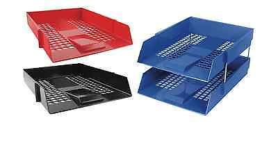 Risers 3 x Letter Filing Trays In//Out Complete Set Fast Post Colour Choice
