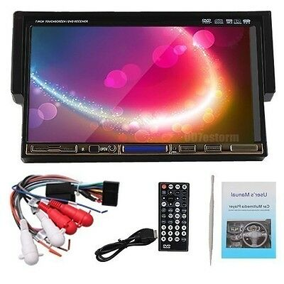 """In Dash Single 1 DIN 7"""" Touch Bluetooth Car DVD Player BT Video Radio+New Camera"""