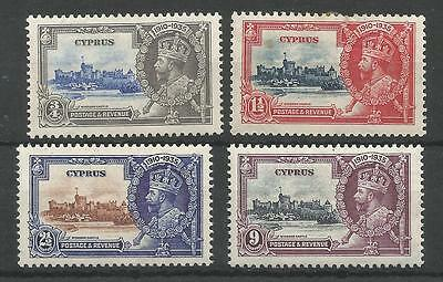 Cyprus  The. 1935 Gv Silver Jubilee Set Mounted Mint Cat £35