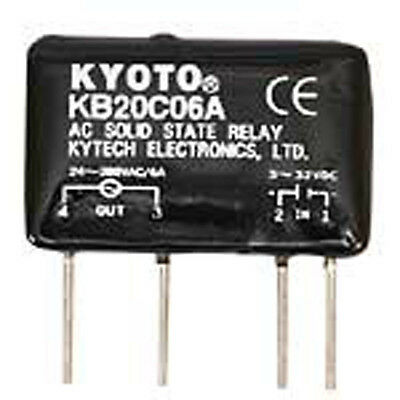 Kyotto KB20C06A Relay Solid State 32 Volt DC Input 6 Amp 280 Volt AC Output 4-Pi