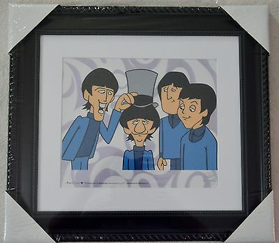 The Beatles Picture Ringo's Top Hat Animation Ltd Ed Sericel Coa Framed Nib