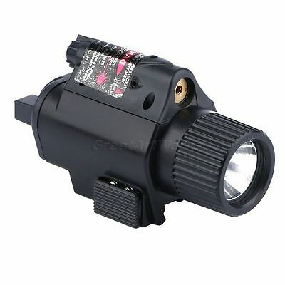 Tactical Red Dot Laser Sight w/ CREE LED Flashlight Torch for 20mm Rifle Pistol