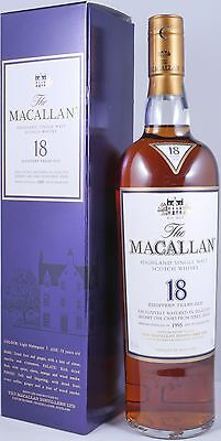 Macallan 1995 18 Years Sherry Oak Highland Single Malt Scotch Whisky 43,0% RARE