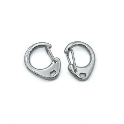 2 x Stainless Steel Self-Closing C Clips - 24mm x 18mm Clasps
