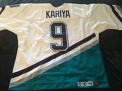 Anaheim Mighty Ducks Vintage Authentic Paul Kayria 9 Licensed  Jersey Ccm  54