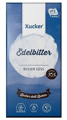 Xucker Sugar Free Dark Chocolate 100 g, Sweetened with Xylitol, No Sugar Added