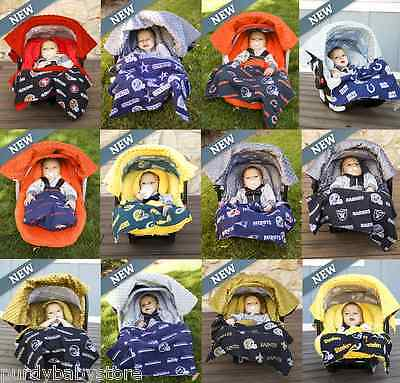 All NFL Team Available Whole Caboodle Car Seat Canopy Baby Infant Cover Football