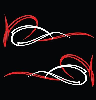 Vinyl Pinstriping Decal - Kustom Kulture - 005 - two colors - free shipping USA