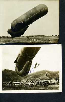 Lot of 7 Military photos WW1, Balloons and Dirigible