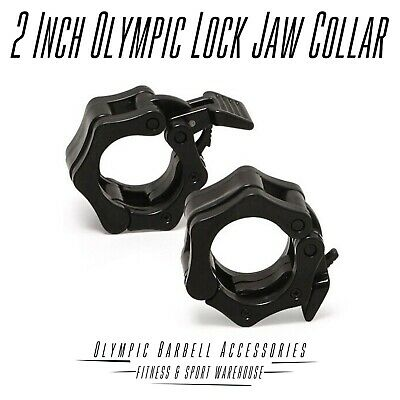 NEW Olympic 2 Inches Lock Jaw Collar Weight Lifting Fitness Gym Equipment