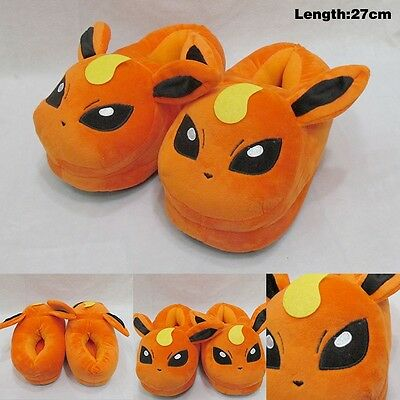 Pokemon Slippers pm Flareon Eevee plush Adult shoes 1 Pair 27cm