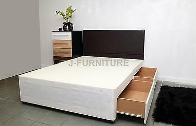 New 4ft Small Double or 4ft6 Standard Double Divan Bed Base Storage Headboard