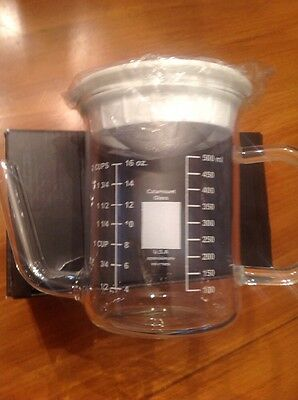 Large 2 Cup Catamount Flame ware Glass Measuring Cup / Gravy Separator New