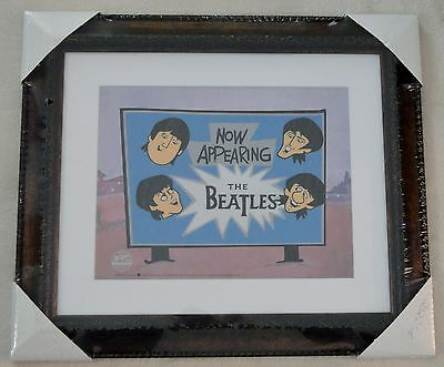 The Beatles Now Appearing Animation Sericel Ltd Ed Framed W/coa Nib
