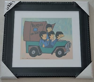 The Beatles Or Bust Picture Animation Sericel Ltd Ed Coa Framed Nib