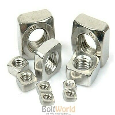 M4 M5 M6 M8 M10 M12 Stainless Steel A2 Square Nuts For Bolts Screws Bolt Din 557