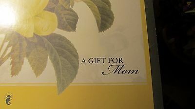 """Waterford Crystal """" A Gift For Mom"""" Vase and Silk Flowers -NIB"""