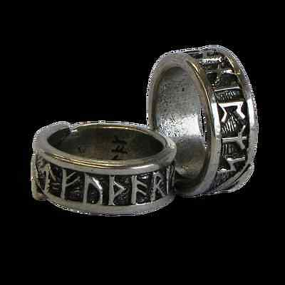 Viking Rune Pewter Adjustable Ring! New Made in Scotland Thor Odin Pagan Celtic