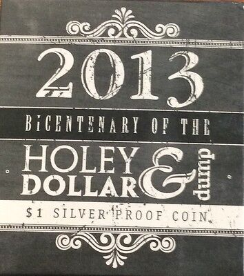 2013 bicentenary of the holey dollar and dump $1 silver proof coin