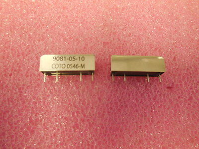 Qty (5) 9081-05-10 Coto Reed Relay Spst-No 5V 0.5A  Sip