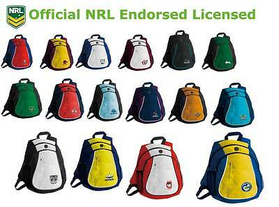 NRL Two Tone Team Logo Supporter Backpack Official Licensed Sports Bag New Team