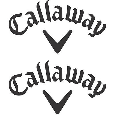 2x CALLAWAY Golf Logo Vinyl Decal Sticker. 3 sizes. 10 colours