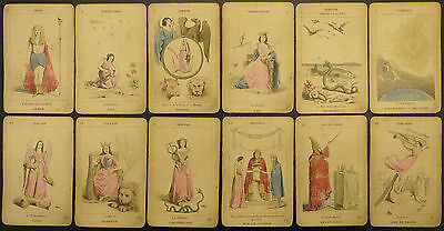 Princesse Tarot, Paris, Antique Etteilla-based Tarot Deck, 1880's, incomplete