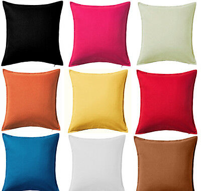 "Plain Dyed Cushion Cover 100% Percale Cotton Pillow Case 16""x16"",18""x18"" Sizes"