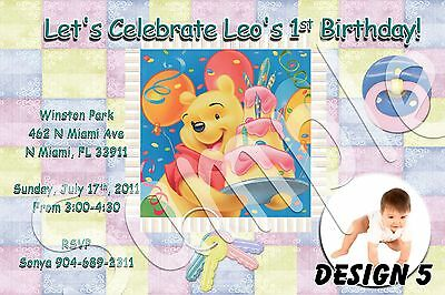 Winnie The Pooh MORE DESIGNS! Custom Invitations Photo Birthday Party FAST!