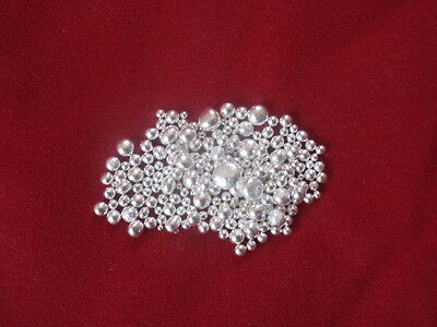 5.0 Grams Beautiful 999 Silver Pure Beads Nuggets Rounds 5 Gr Fine Casting 2015