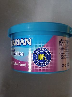Aquarian Tropical Fish Flake 25g - Posted Today if Paid Before 1pm