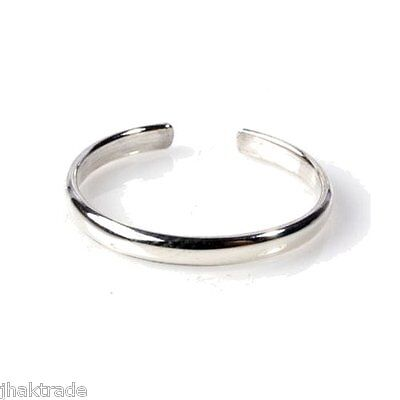 Sterling Silver Toe Rings - UK Seller - Adjustable Rings - Simple Plain Band
