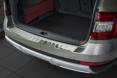 stainless steel boot sill protection for Octavia 3 Scout out 2014