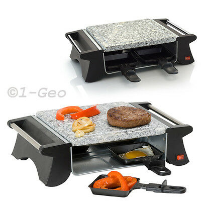 RACLETTE electric Stone Grill Plate Tabletop Grill hot stone 1-4 People NEW