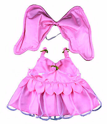 """Pink Butterfly Outfit  16"""" (40cm)by Teddy Mountain will fit Build a Bear"""