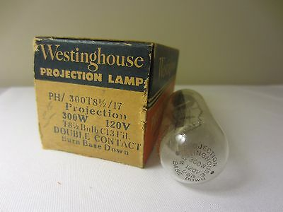 Westinghouse PH / 300T8-1/2 / 17 300W 120V C13 Projection Lamp Projector Bulb