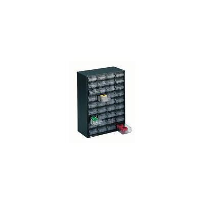 324160 , Storage Cabinet Clear Drawer System Dark Grey