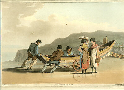 1814 - Costume of Yorkshire -  Fishermen  - first edition